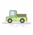 farmer pickup truck vector image