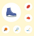 flat icons rocket ice boot boxing and other vector image vector image