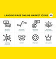 flat line design concept icons for online shopping vector image vector image