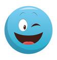 flirt eye chat emoticon vector image vector image