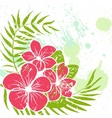 flower grunge background vector image vector image