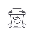 garbage recycling line icon concept garbage vector image vector image