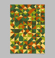 geometrical polygonal triangle mosaic poster vector image vector image