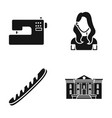 hairdresser shop centre and other web icon in vector image vector image