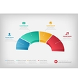 Half of a business pie chart for reports or vector image