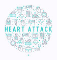heart attack concept in circle vector image