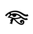 horus eye wadjet vector image vector image
