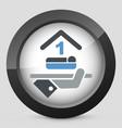 hotel icon single bedroom vector image vector image