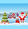 house in snowy christmas landscape vector image vector image