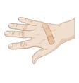 hurt hand vector image vector image