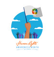 international human rights card of people parade vector image vector image