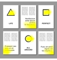 Journaling business cards templates vector image vector image