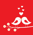 kiss birds - romantic card for valentines day vector image vector image