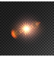 Light lens flare Shining sun with bokeh effect vector image vector image