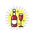 Linear Icon Drink vector image