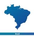 map brazil vector image