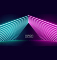 neon lights stage background in pink and blue vector image vector image