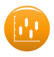 new diagram icon orange vector image vector image