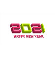 new year poster 2021 logo concept vector image vector image