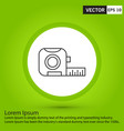 perfect white icon or pictogram on black vector image