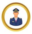 Pilot icon vector image vector image