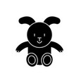 rabbit icon black sign on vector image