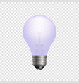 Realistic 3d light bulb template for your design