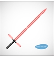 Red Light Saber vector image vector image