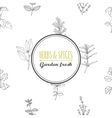 Round label template on seamless pattern with vector image vector image