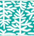 seamless pattern with christmas trees on blue vector image