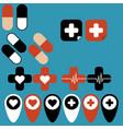 set medical icons for web design vector image
