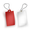 set of realistic tags business blank retail card vector image vector image