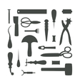 Silhouettes of Leather Craft Tools vector image vector image