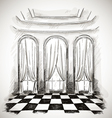 sketch of a classic parlor ballroom vector image vector image