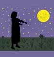 sleepwalking girl vector image vector image