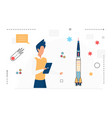 space science research technology scientist man vector image