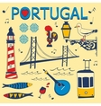 Stylish collection of typical Portuguese icons vector image vector image