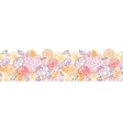 Sweet flowers horizontal seamless pattern vector image vector image
