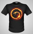 t shirts Black Fire Print man 05 vector image vector image