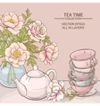 tea time color vector image