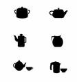 Teapot Silhouette vector image