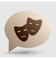 Theater icon with happy and sad masks Brown vector image vector image