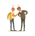 two businessmen characters fighting angry and vector image vector image