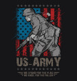 us army united states soldier with weapon and usa vector image vector image