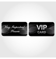VIP Card with silver abstract pattern vector image vector image