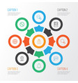 web icons set with messaging plus picture and vector image vector image