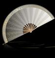 white golden fan vector image vector image