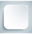 White standard icon empty template vector image