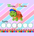 worksheet writing practice alphabet t for turtle vector image vector image