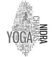 yoga nidra and consciousness chakras in yoga vector image vector image